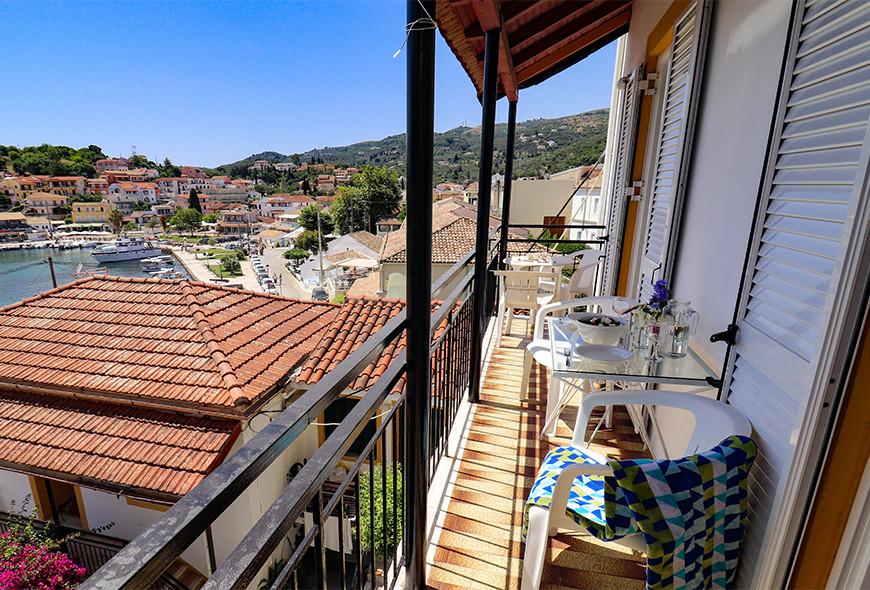 Antigoni Apartments Kassiopi Corfu Greece Balcony View