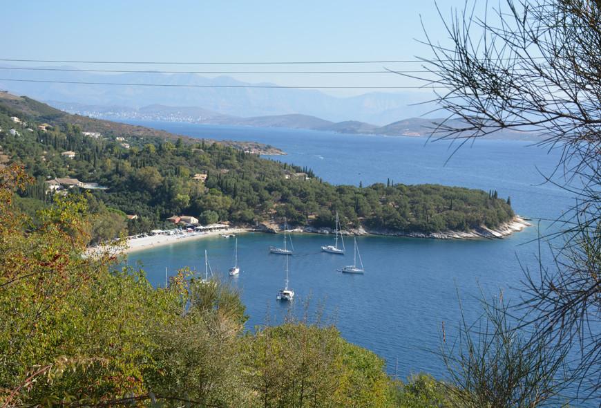 Kerasia Beach View Top Corfu Greece