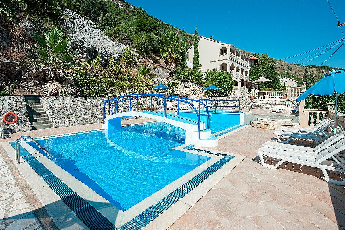Dimitrios Apartments Pool Exterior View Imerolia Kassiopi Corfu Greece