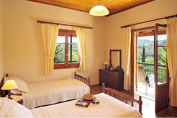 Cochelli Villas Avlaki Kassiopi Corfu Bedroom Balcony