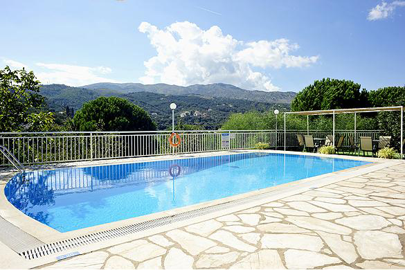 Cochelli Villas Pool Area Corfu Greece