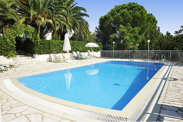 Cochelli Villas Pool Area Corfu Greece Avlaki