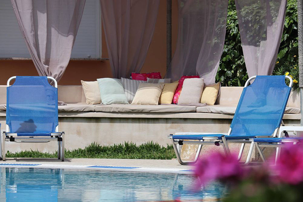 Mary Helen Apartments Outdoor Seating Area Kassiopi Corfu Greece