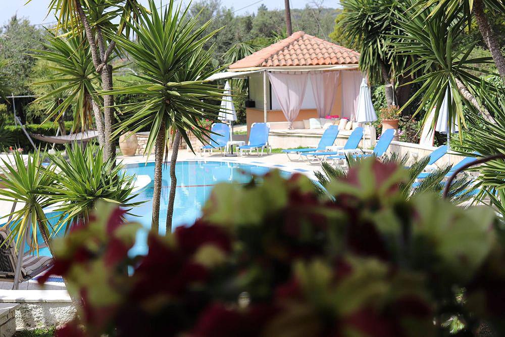Mary Helen Apartments Pool Area Kassiopi Corfu Greece