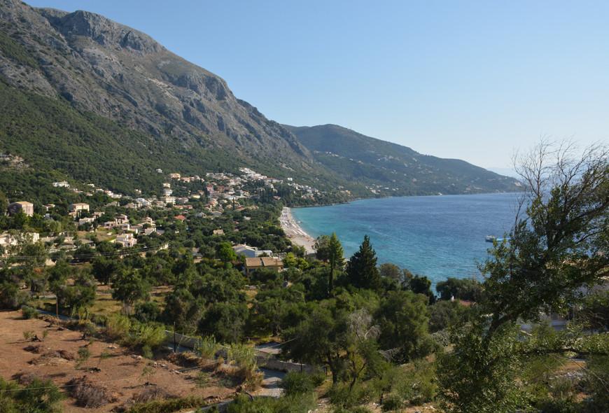 Barbati View Beach Kassiopi Corfu Greece