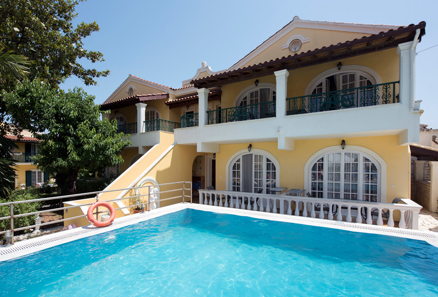 Andreas Pool Complex First Building Pool Kassiopi Corfu Greece