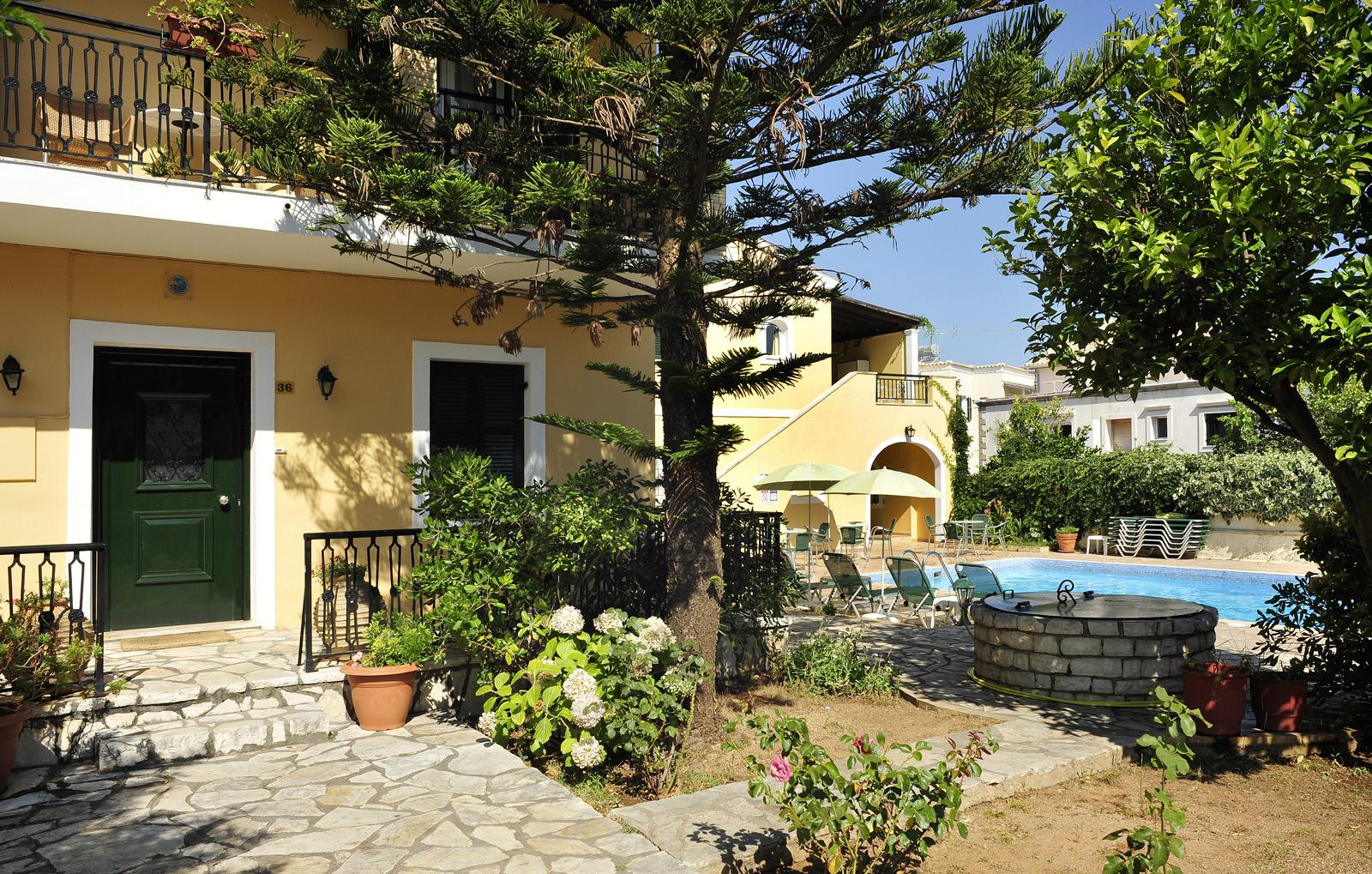 Ariti Apartments Kassiopi Exterior Pool Corfu Greece
