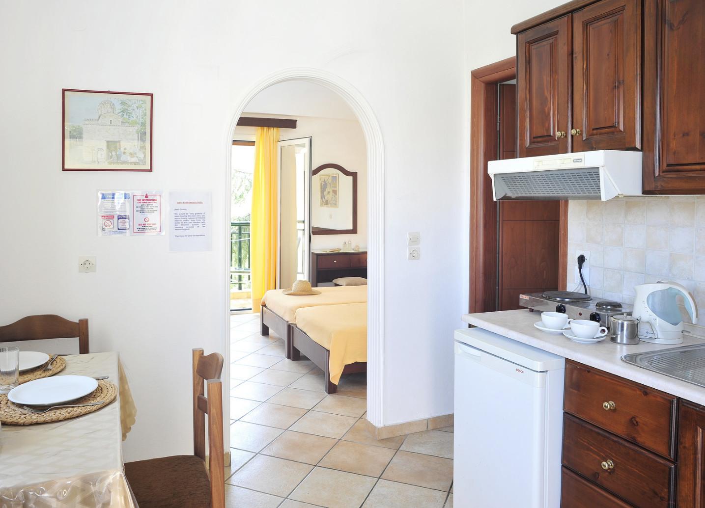 Ariti Apartments Studio Kitchen Kassiopi Corfu Greece