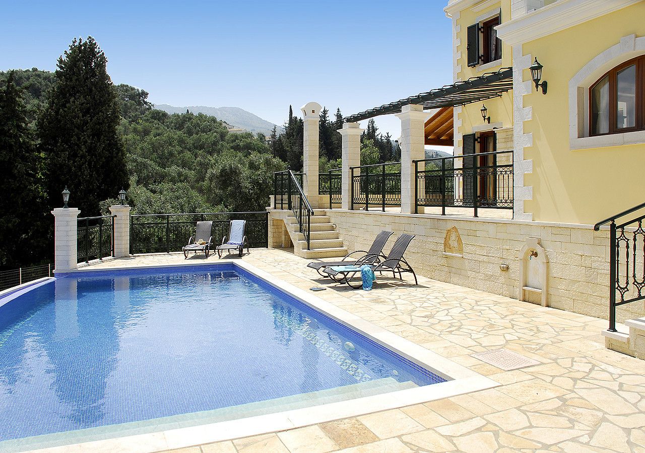 Villa Argiro Kassiopi Corfu Greece Pool View