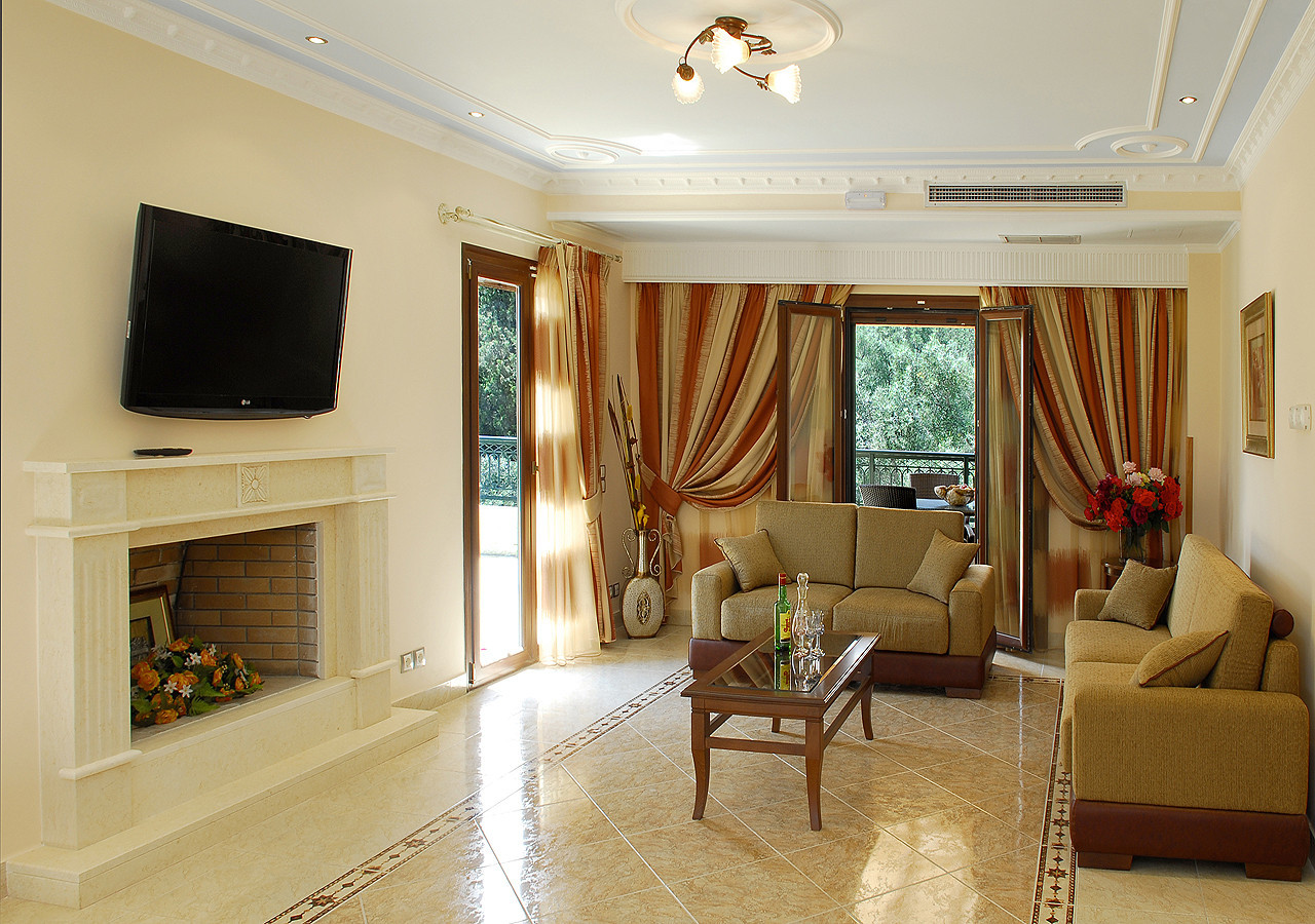 Villa Argyro Kassiopi Corfu Greece Upstairs Main Lounge Area