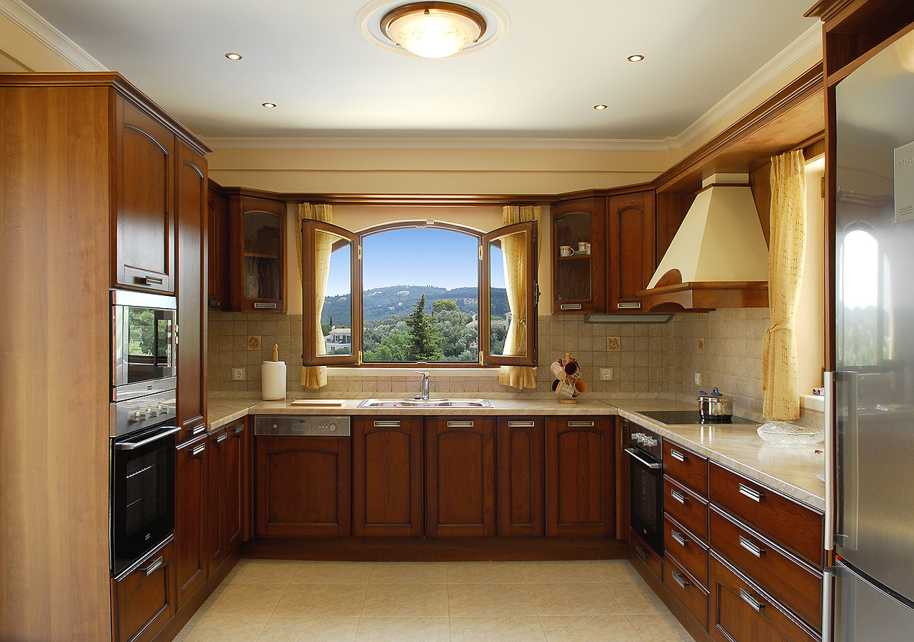 Villa Argyro Main Kitchen Kassiopi Corfu Greece