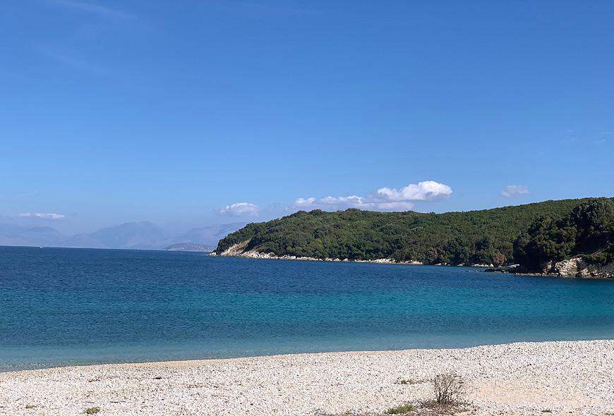 Avlaki Beach Kassiopi Sinies Corfu Greece