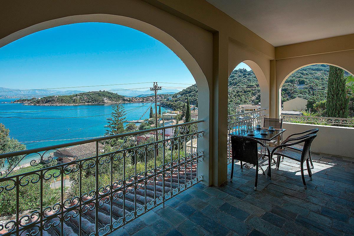 Dimitrios Apartments Balcony View Imerolia Corfu Greece