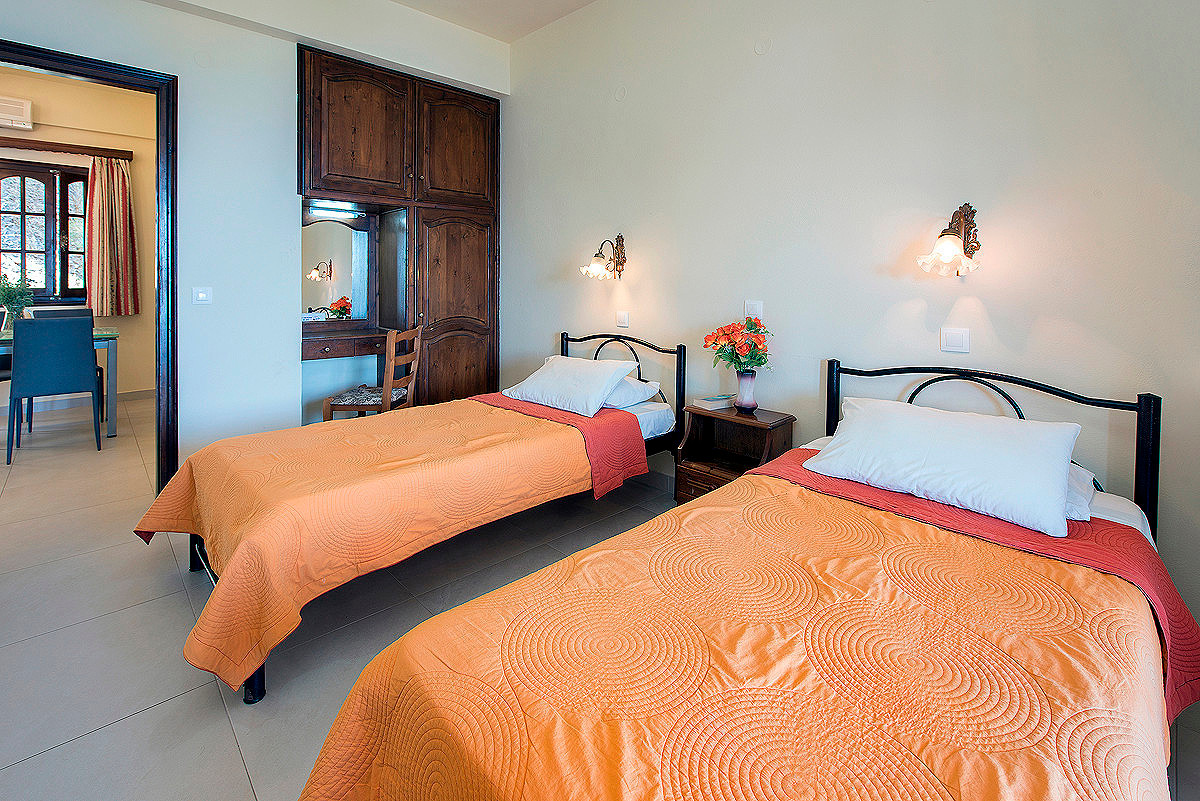 Dimitrios Apartments Twin Room Imerolia Corfu Greece