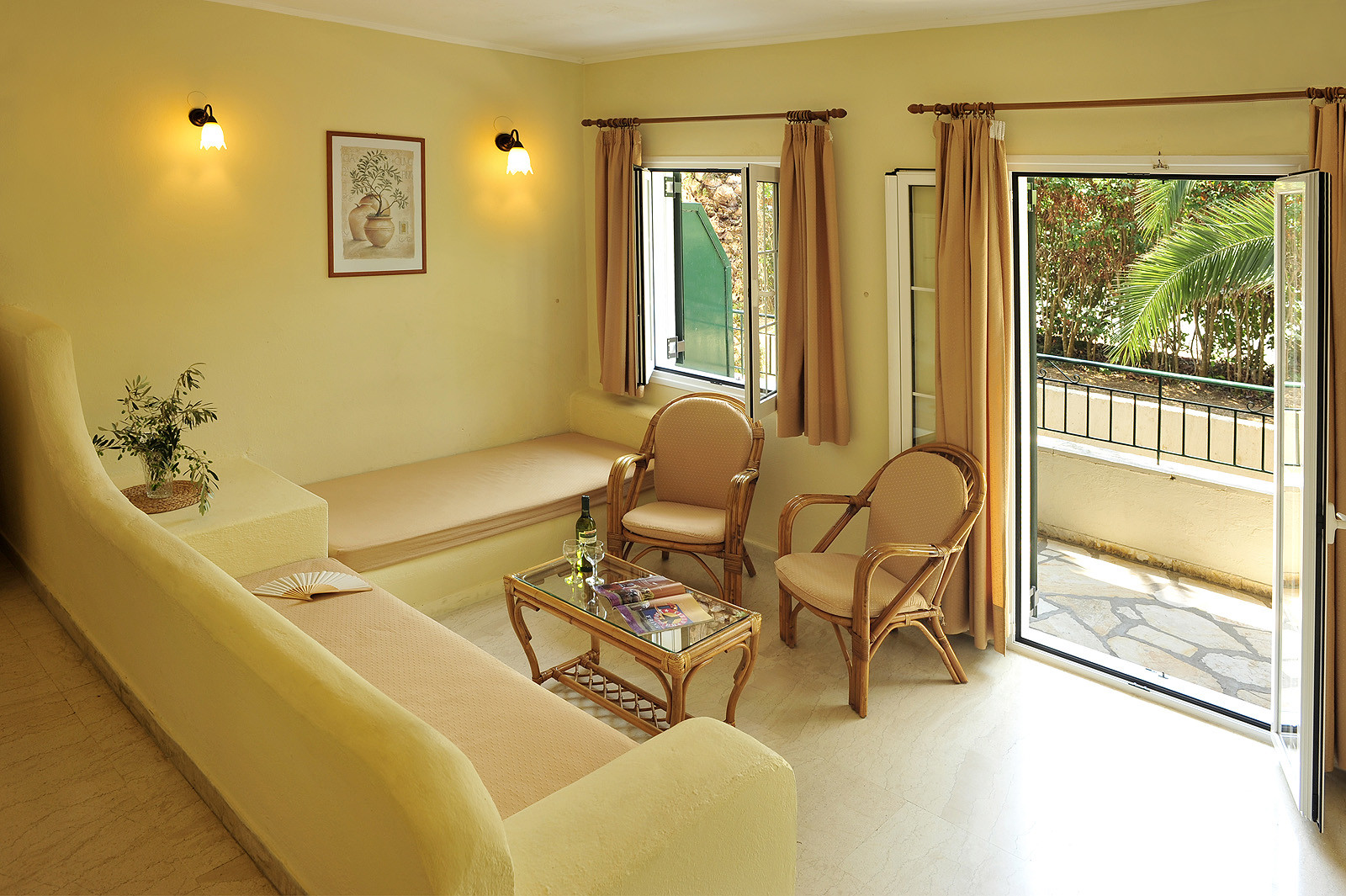 Balaris Apartments Living Room Kassiopi Corfu Greece