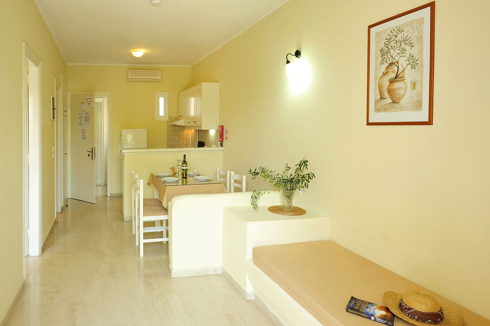 Balaris Apartments Kitchen Lounge Kassiopi Corfu Greece
