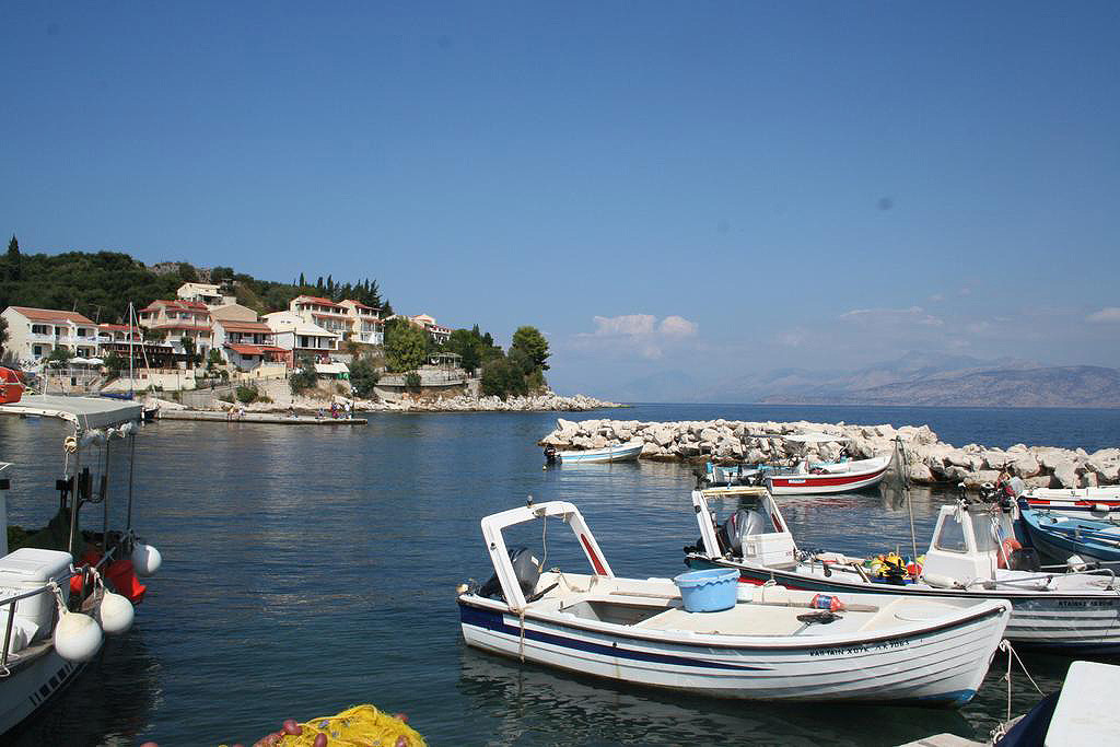 Kassiopi Harbour View Corfu Greece