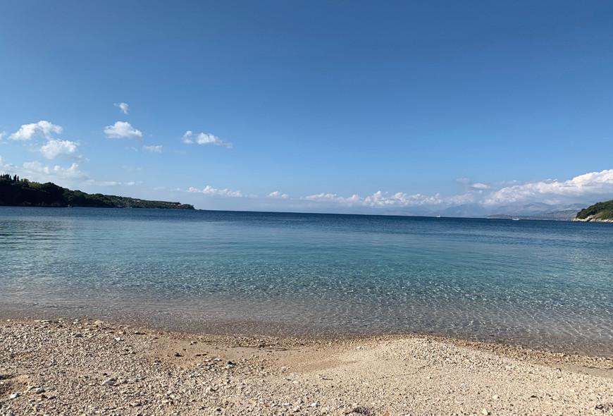 Avlaki Beach Corfu Greece