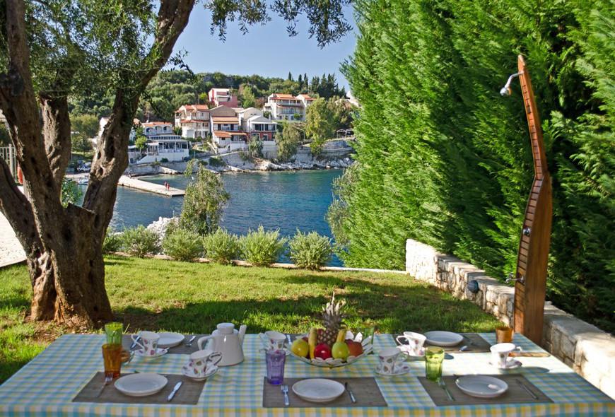 Villa Aphrodite Kassiopi Corfu Greece Dinner with Harbour View