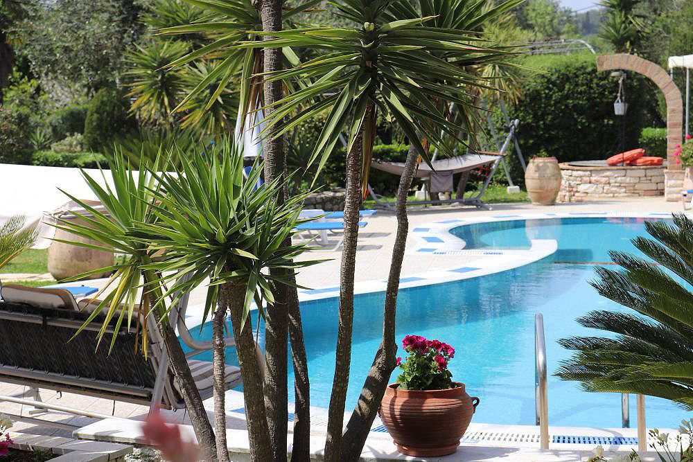 Mary Helen Apartments Pool Area Kassiopi Corfu Greece