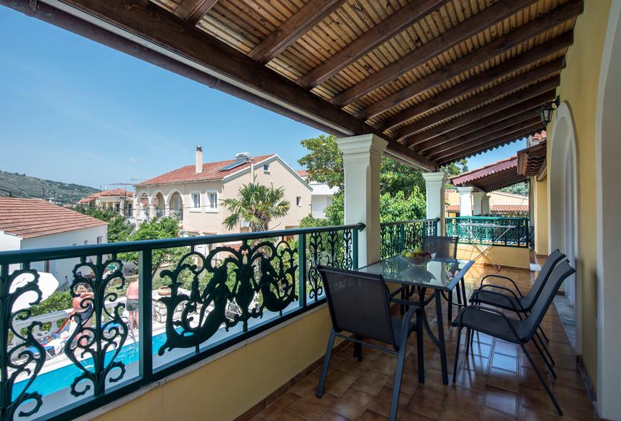 Andreas Apartments Top Balcony Kassiopi Corfu Greece