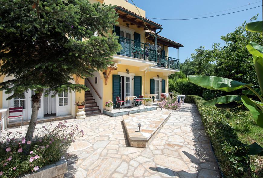 Andreas Apartments Back Building Kassiopi Corfu Greece