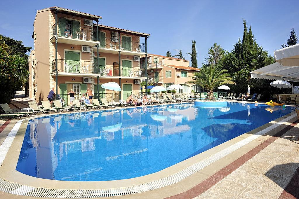 Philippos Apartments Pool Kassiopi Corfu Greece
