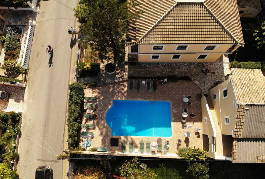 Ariti Apartments Kassiopi Corfu Greece Drone Footage