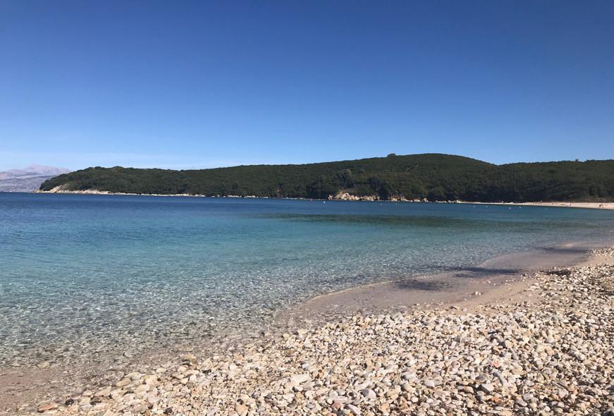 Avlaki Beach Sinies Corfu Greece